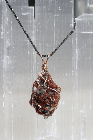 Vanadinite Druzy Pendant