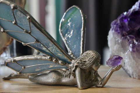 Blue Fairy with Amethyst