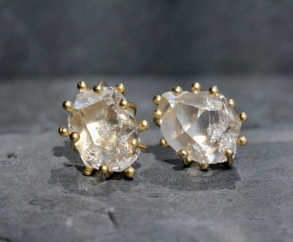 Herkimer Diamond Large Post Earrings