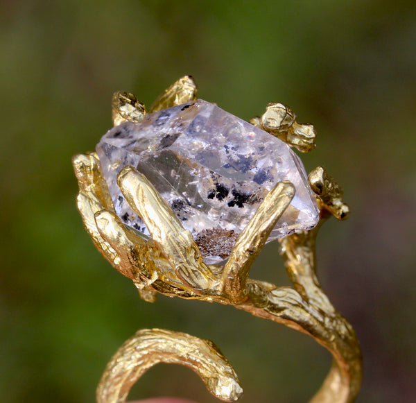 Herkimer Diamond Branch Ring