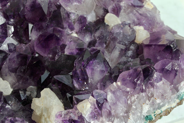 Amethyst with calcite specimen