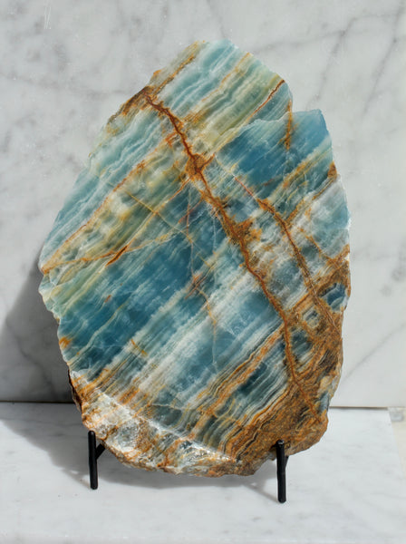 Blue Calcite Onyx Slab