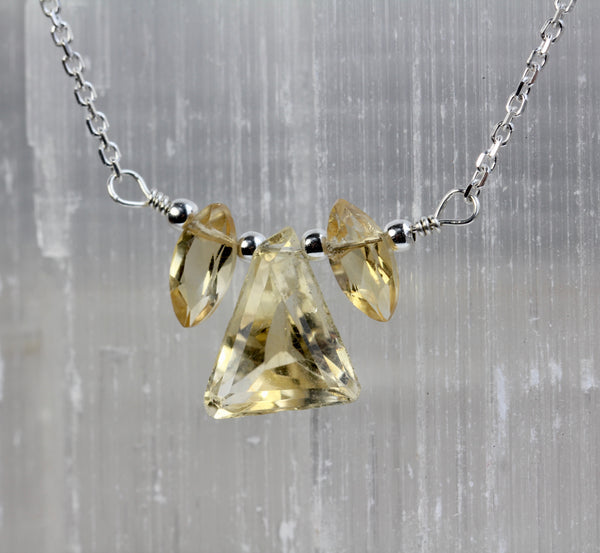 Citrine Delicate Gem Necklace