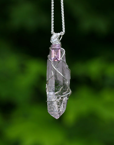Vera Cruz Amethyst Crystal with Herkimer Diamond