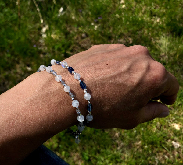 Moonstone Kyanite Bracelet