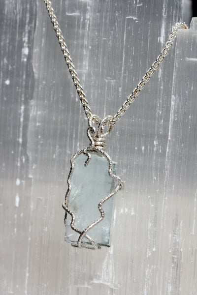 Large Aquamarine Crystal Pendant