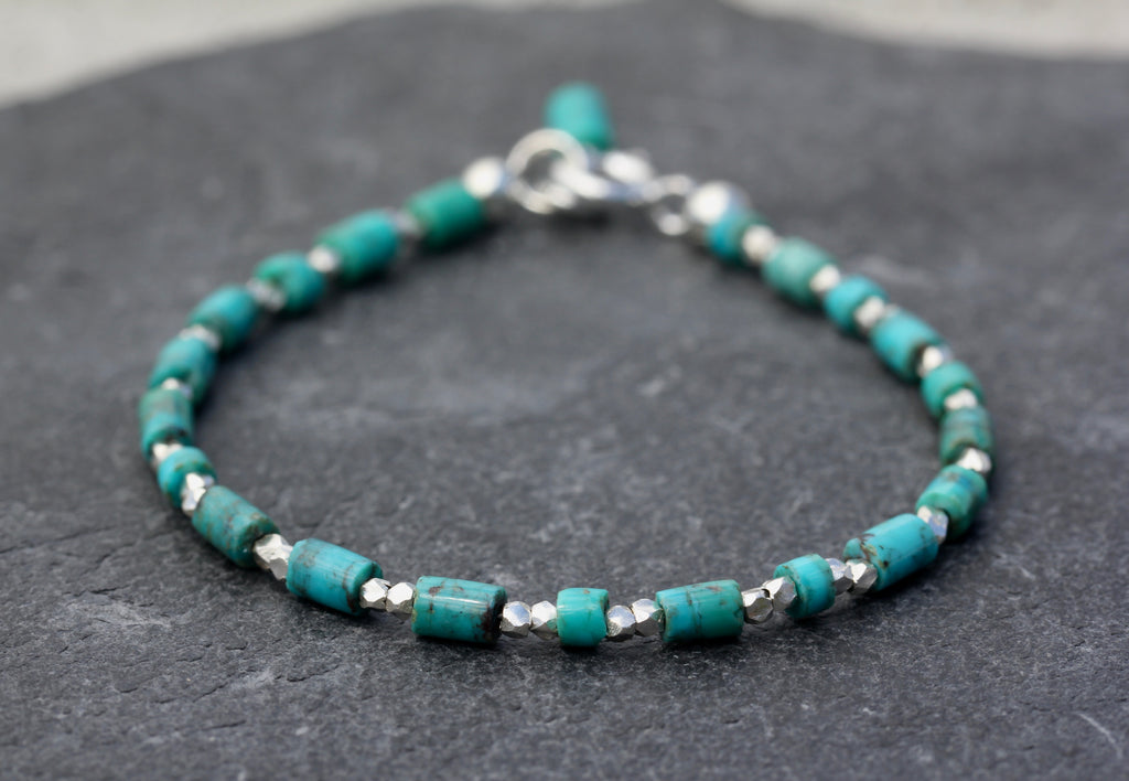 Turquoise Hill Tribe Silver Bracelet