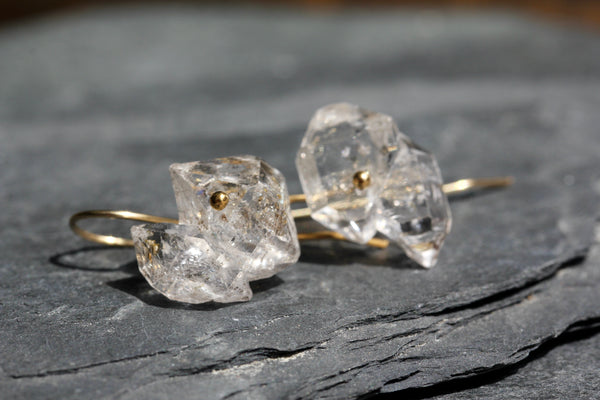 Herkimer Diamond Cluster Drop Earrings