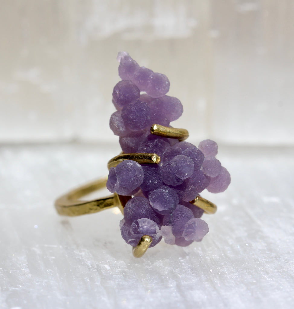 Grape Agate Ring
