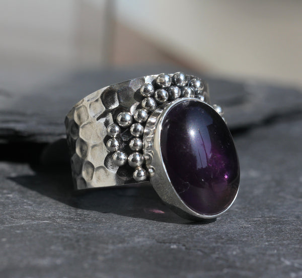 Amethyst Dot Ring
