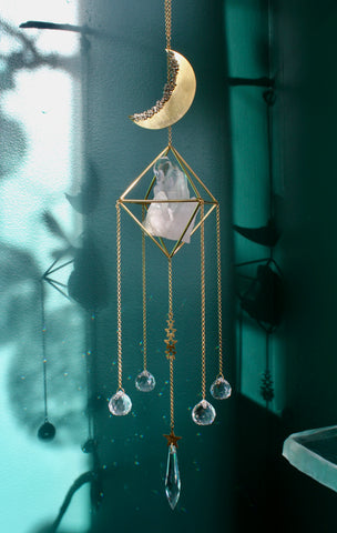 Celestial Quartz Preciosa Crystal Sun Catcher Chandelier