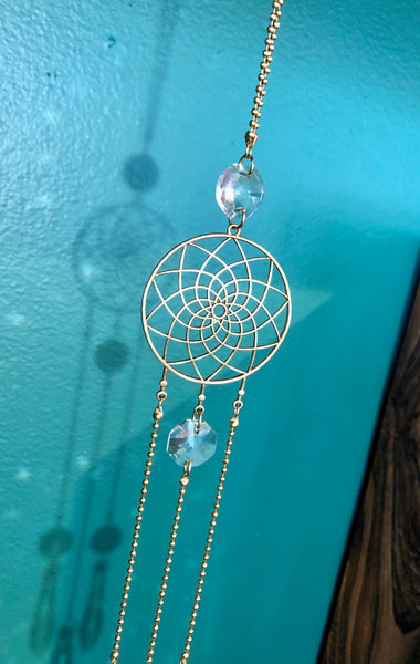 Dream Catcher Crystal Prism Ornament