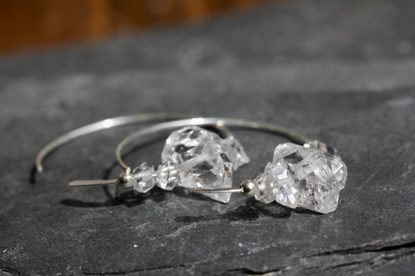 Herkimer Diamond Hoops
