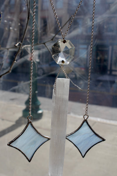 Moon Goddess Selenite Sun Catcher Chandelier