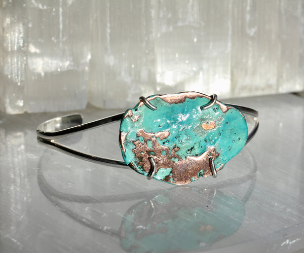 Copper Splash Cuff Bracelet