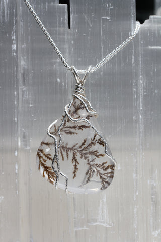 Dendritic Quartz Winter Tree Pendant