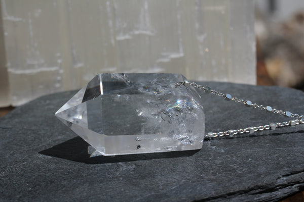 Large Quartz Crystal Point Necklace