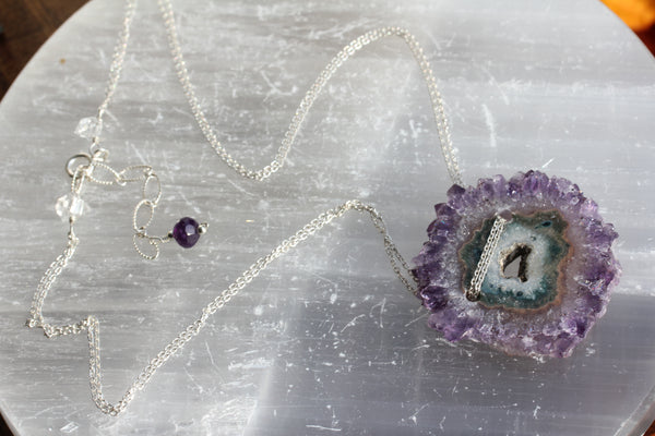 Amethyst Stalactite Necklace
