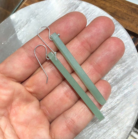 Aventurine Stick Earrings