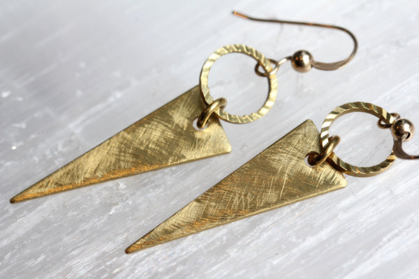 Circle Spike Earrings