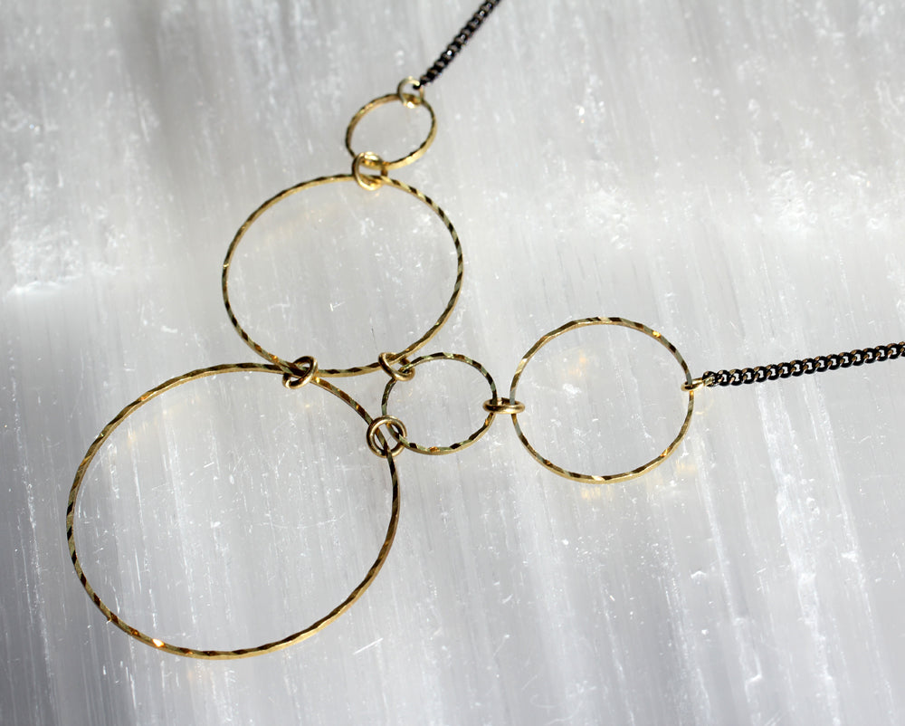 Molecular Brass Necklace