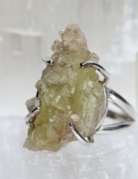 Vesuvianite Crystal Ring