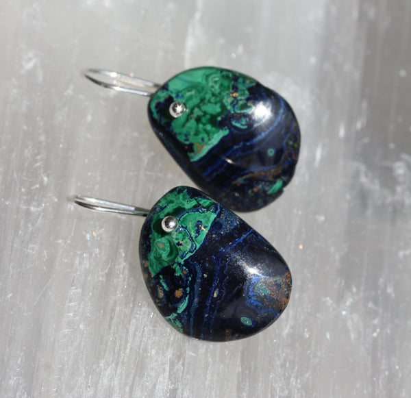 Azurite Malachite Earrings