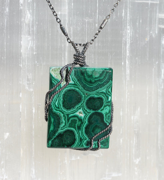 Malachite Block Pendant