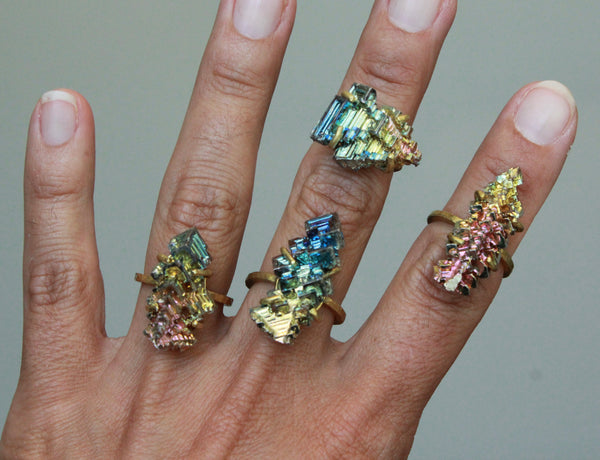 Bismuth Brass Ring - size 6