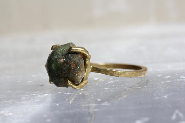Chrome Chalcedony Druzy Ring