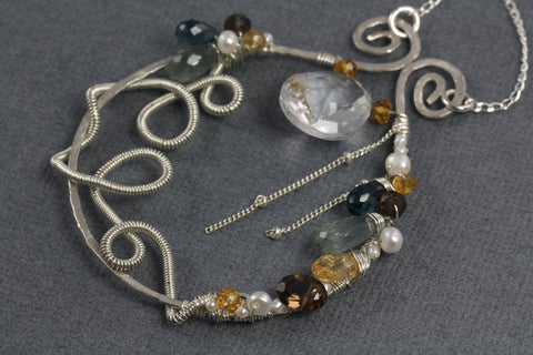 Dramatic Scroll Necklace - Annick Designs - 1
