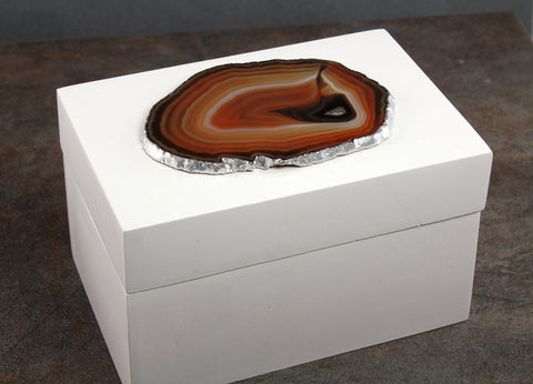 Brown Agate White Box - Annick Designs - 1