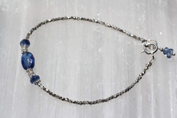 Kyanite Hill Tribe Silver Bracelet