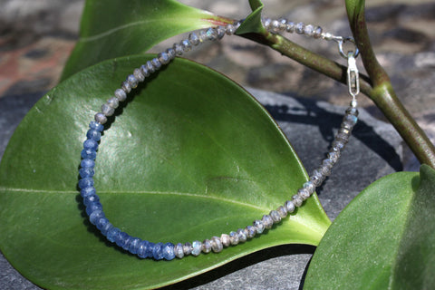 Sapphire and Labradorite Stacking Bracelet - Annick Designs - 1
