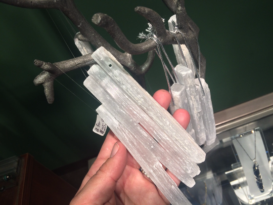Selenite Icicle Ornaments