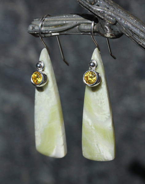 Serpentine Limoncello Earrings