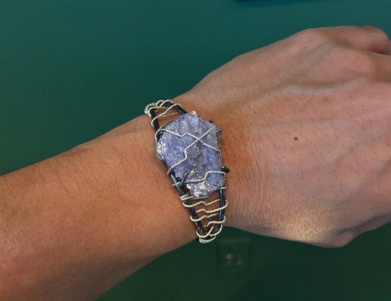 Tanzanite Crystal Wrap Cuff