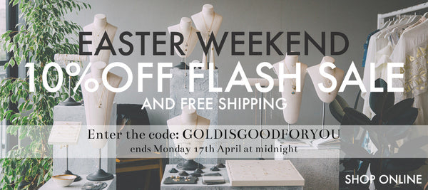 laura lee jewellery flash sale easter weekend 10% off online only