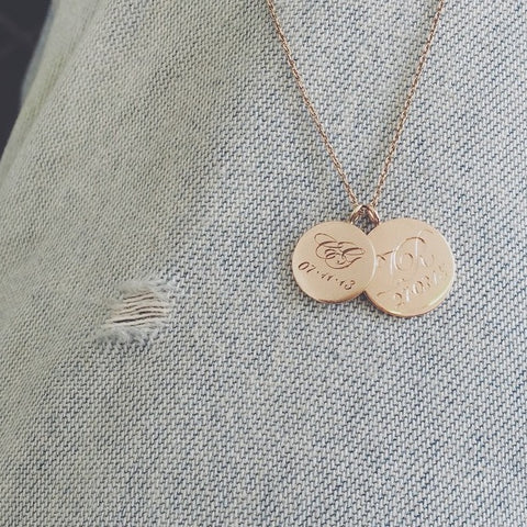 custom initial coin necklace by Laura Lee Jewellery