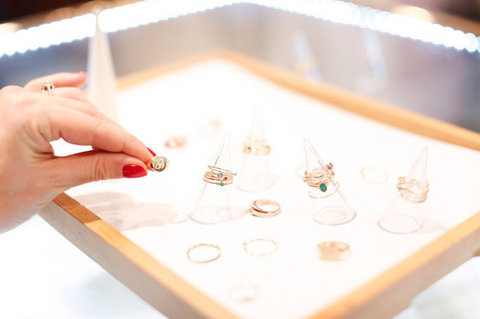 Belle & Bunty at Laura Lee Jewellery, Seven Dials - choosing stacking rings