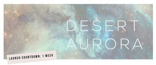 Desert Aurora Banner for new collection by Laura Lee Jewellery