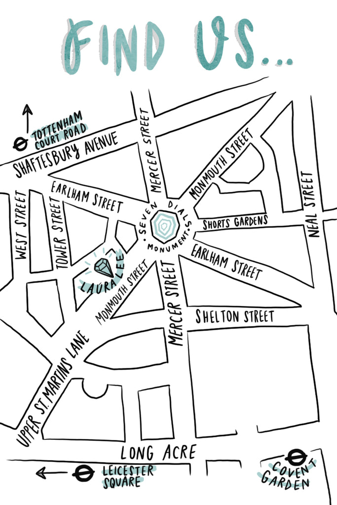 laura lee jewellery boutique map covent garden soho london