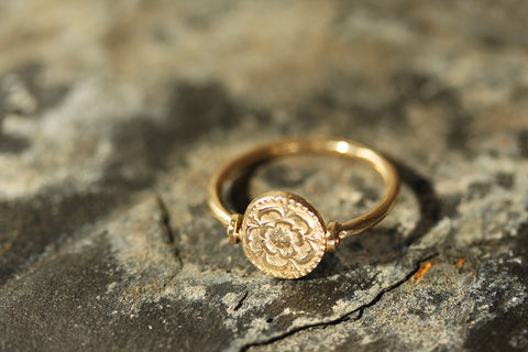9ct Gold Spinning Rose & Crown Ring, Laura Lee Jewellery Trove Collection