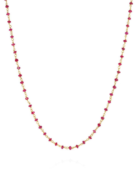 Eternity Necklace 18ct Ruby