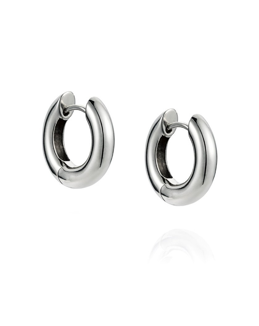 Chubby Huggy Hoops - Sterling Silver
