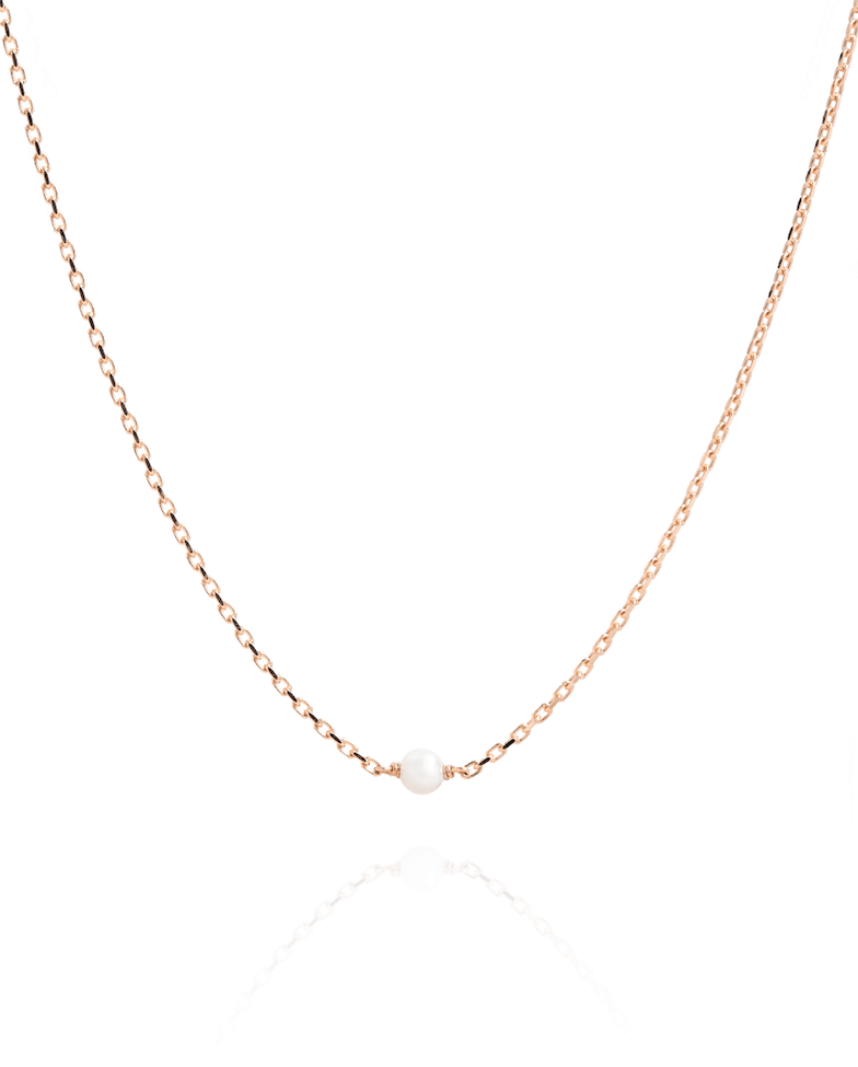 Single Pearl Necklace - Laura Lee Jewellery - 1