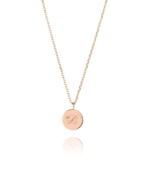 Small Initial Coin Necklace