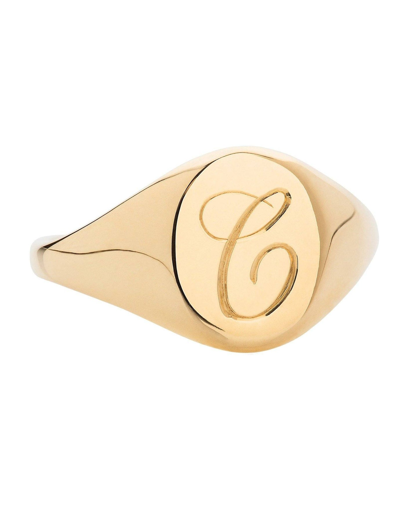 Personalised Initial Signet Ring - Laura Lee Jewellery - 1