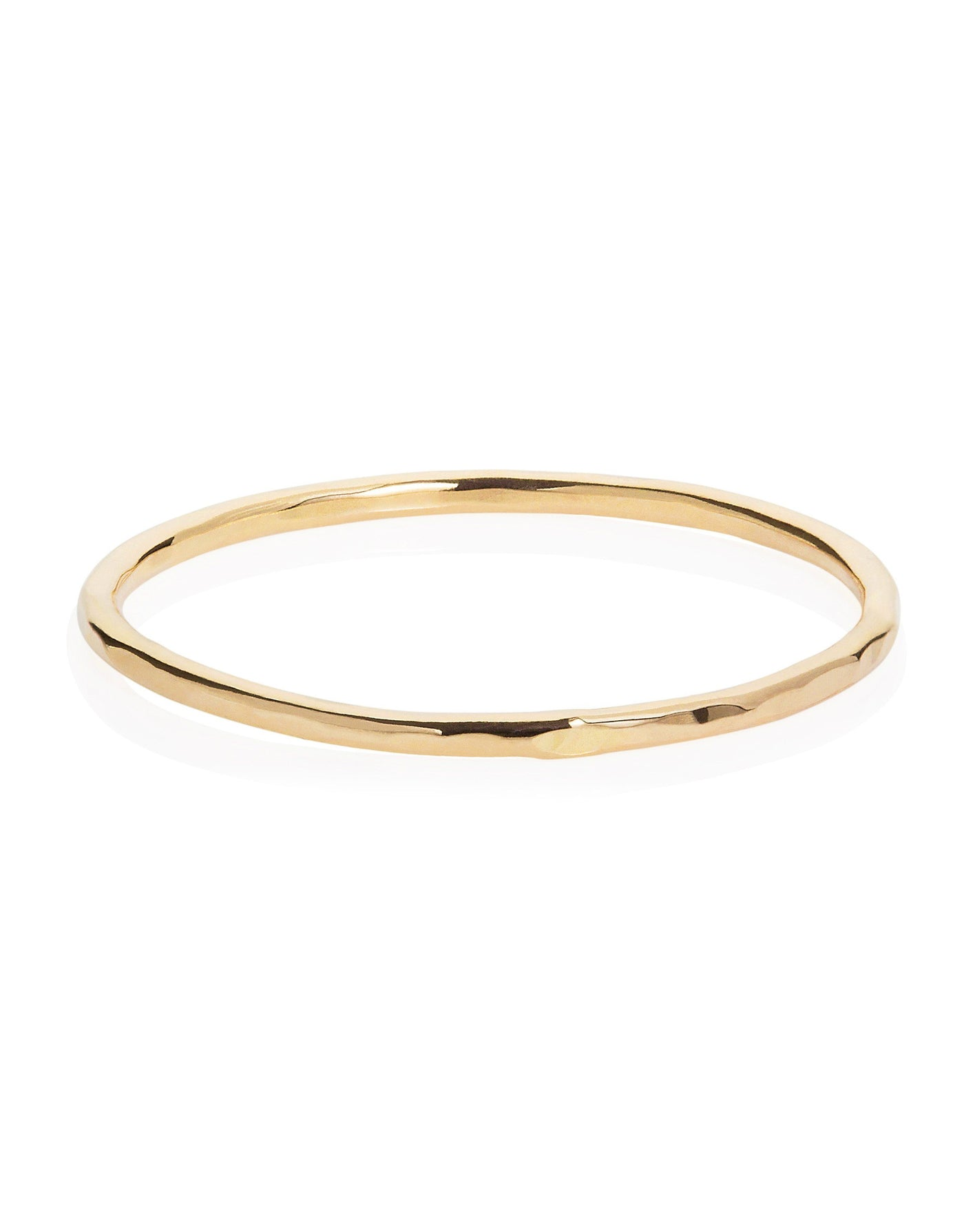 Hammered Band Ring Yellow Gold