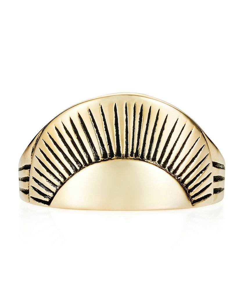 Sunrise ring yellow gold